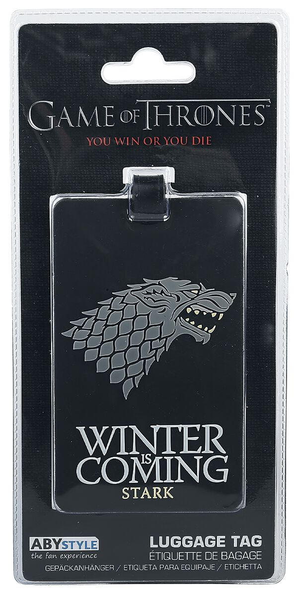 Image of   Game Of Thrones House Stark - Winter Is Coming - Kuffertmærke Taskevedhæng multifarvet