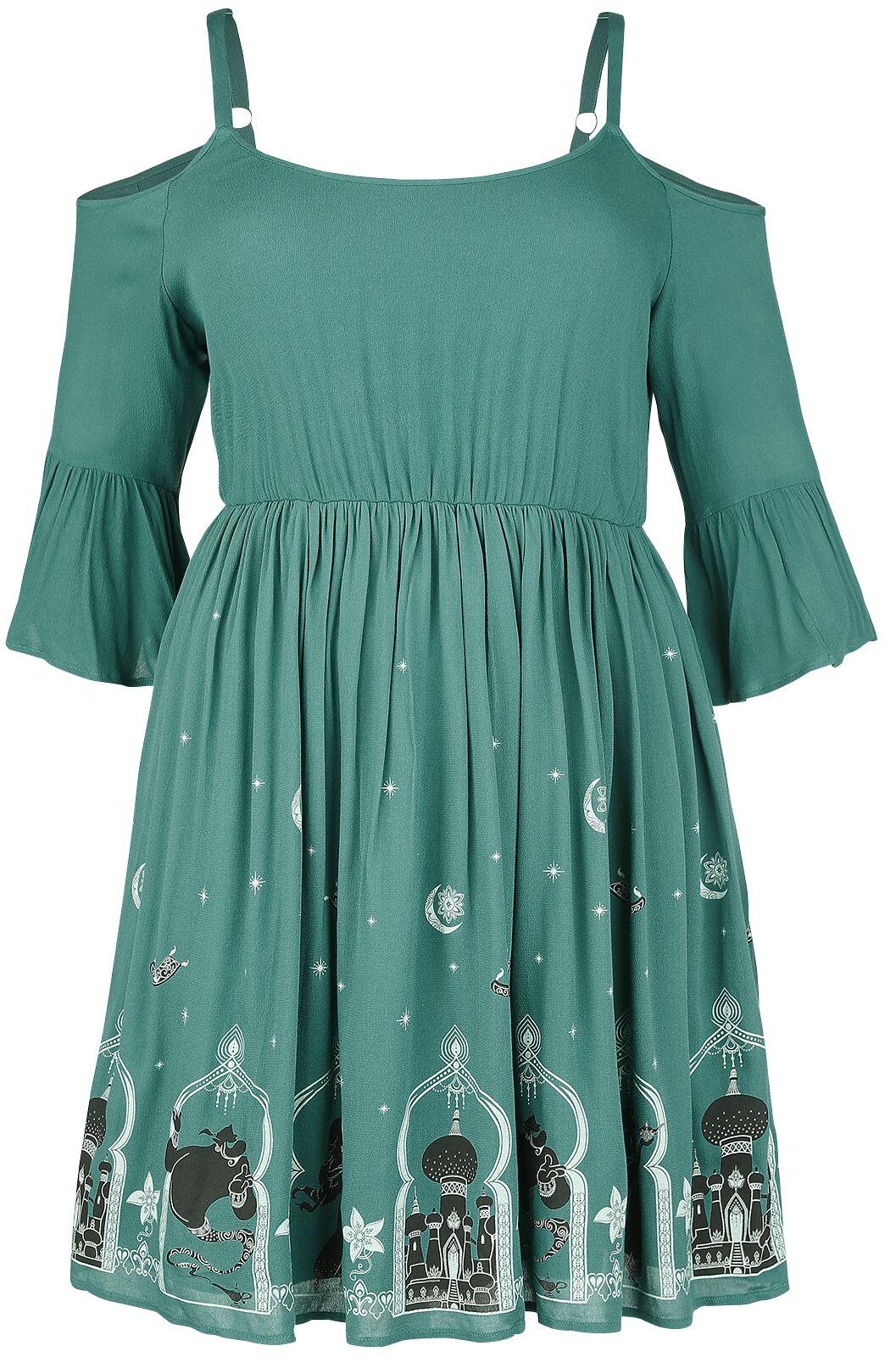 Merch dla Fanów - Sukienki - Sukienka Aladyn Agrabah Border Sukienka niebieski (Petrol) - 357807