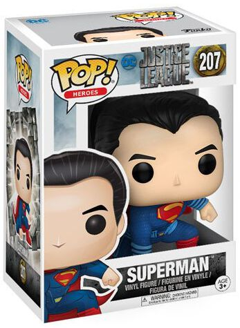 Image of   Justice League Superman (Landing Pose) Vinyl Figure 207 Samlefigur Standard