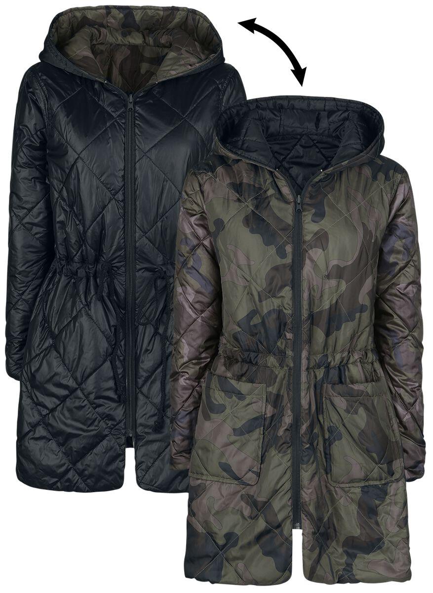 Image of   Forplay Padded Reversible Jacket Girlie jakke camouflage sort