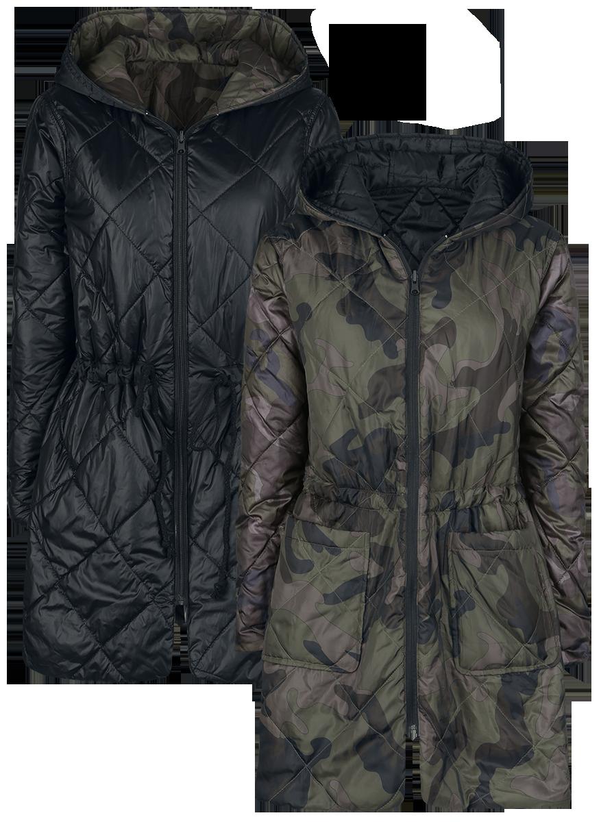 Forplay Padded Reversible Jacket Kurtka damska kamuflaż/czarny