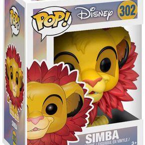 Figurine Pop! Le Roi Lion Simba (Crinière de Feuilles)