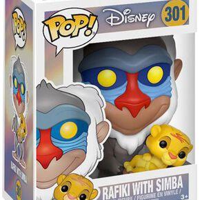 Figurine Pop! Le Roi Lion Rafiki avec le Bébé Simba