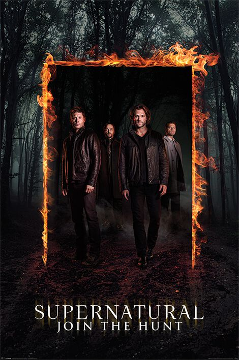 Image of   Supernatural Burning Gate Plakat multifarvet