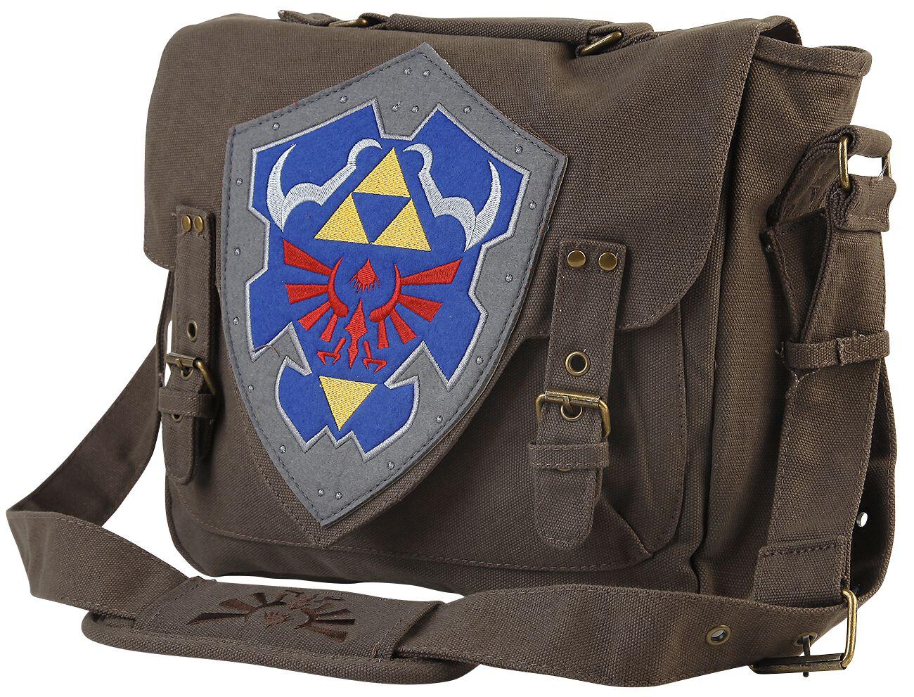 Image of   The Legend Of Zelda Shield Logo Budtaske brun