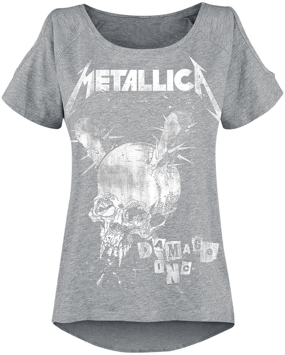 Image of   Metallica Damage Inc Girlie trøje grålig