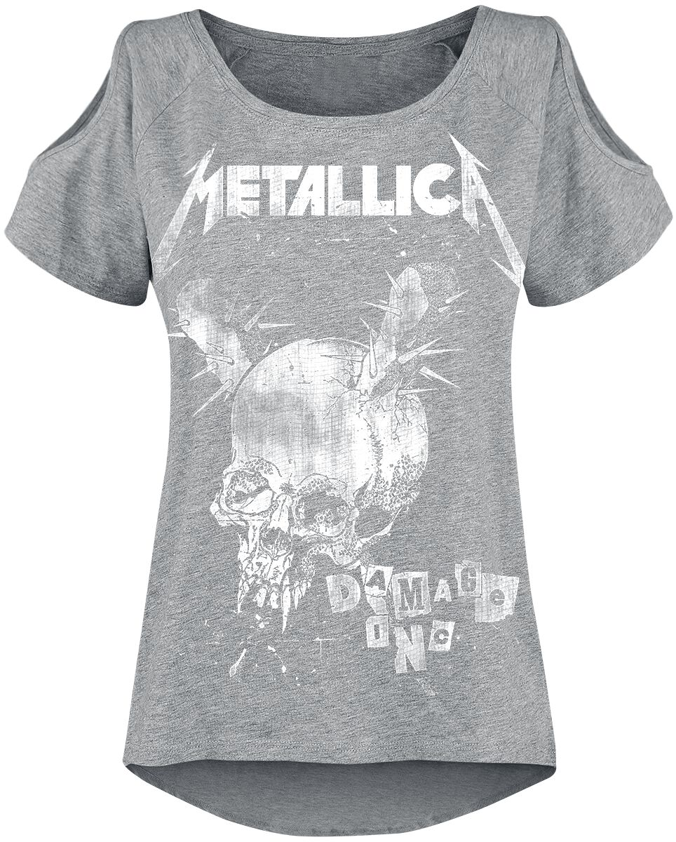 Image of   Metallica Damage Inc Girlie trøje grålig