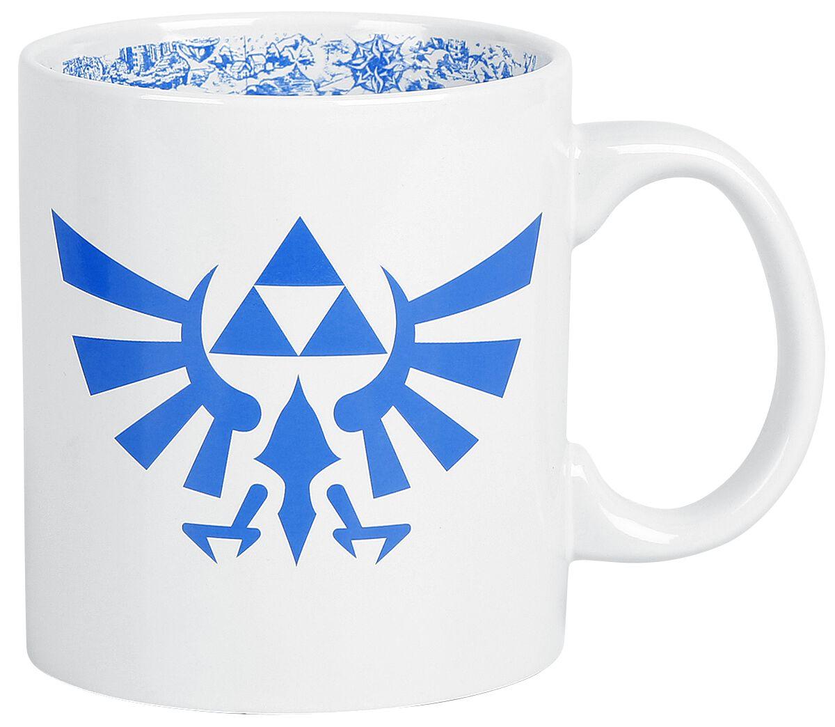 Image of   The Legend Of Zelda Hyrule Logo XXL Krus hvid-blå