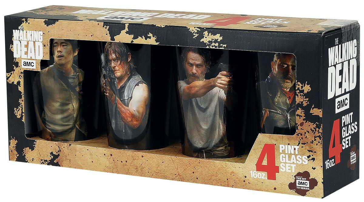 Image of   The Walking Dead Characters Set Ølglas multifarvet