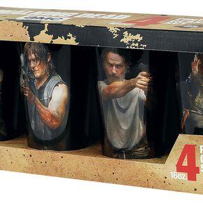 The Walking Dead Characters Set Verre à pinte multicolore