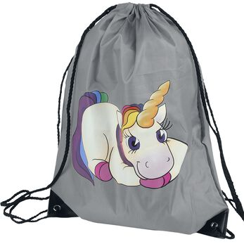 Unicorn Einhorn Sac de Gym gris