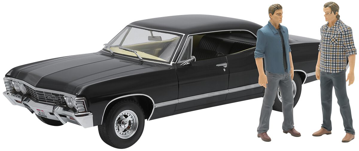 Image of   Supernatural Model Car - 1967 Chevrolet Impala Sport Sedan - med Sam og Dean Figurer Model Standard