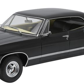 Supernatural Voiture Miniature - Chevrolet Impala Sport Sedan 1967 - Avec Les Figurines Sam Et Dean Model Standard