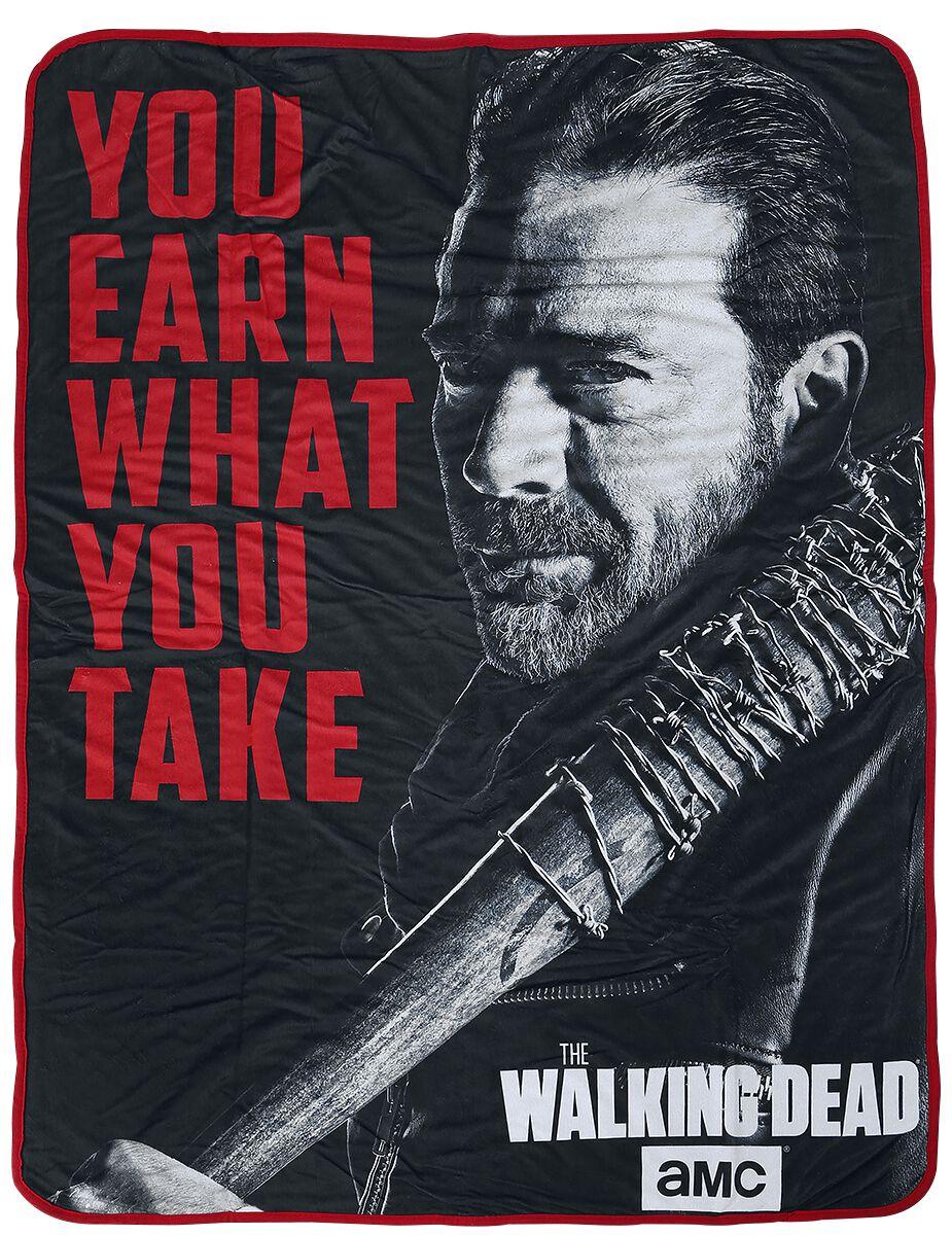 Image of   The Walking Dead Negan - fleecetæppe Fleecetæppe multifarvet