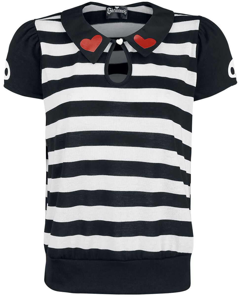Merch dla Fanów - Koszulki - Koszulka damska Skelanimals Hearts Koszulka damska czarny/biały - 358235
