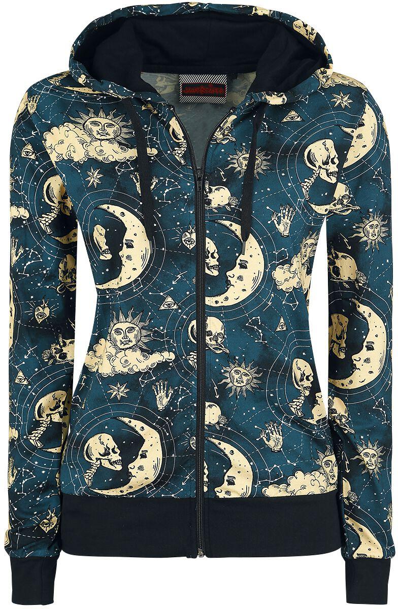 Marki - Bluzy z kapturem - Bluza z kapturem rozpinana damska Jawbreaker Moonstone Hoodie Bluza z kapturem rozpinana damska niebieski - 358247
