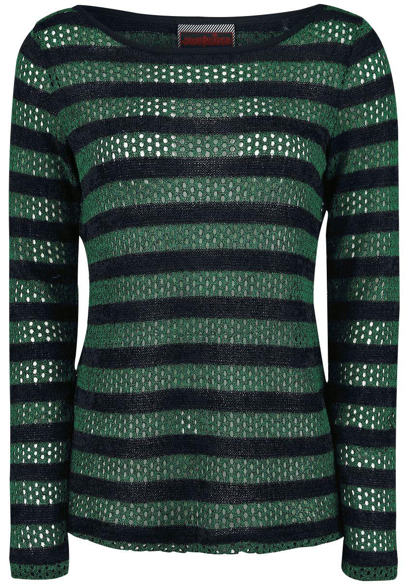 Marki - Bluzy - Sweter damski Jawbreaker Forest Stripes Sweater Sweter damski zielony/czarny - 358273