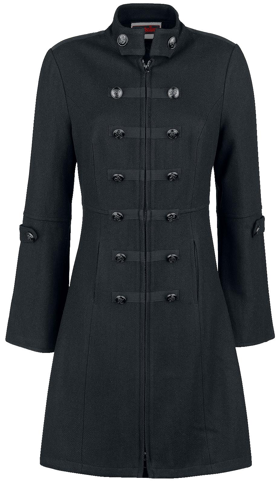 Jawbreaker Military Jacket Płaszcz damski czarny