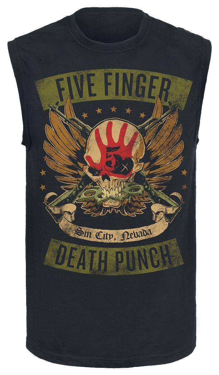 Image of   Five Finger Death Punch Locked & Loaded Tanktop sort