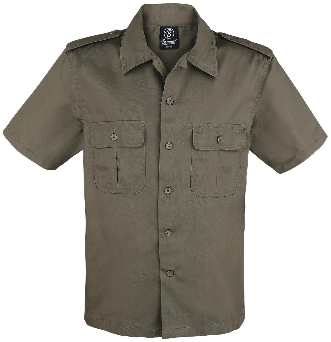 Image of   Brandit 1/2 Sleeve US Shirt Skjorte olivengrøn