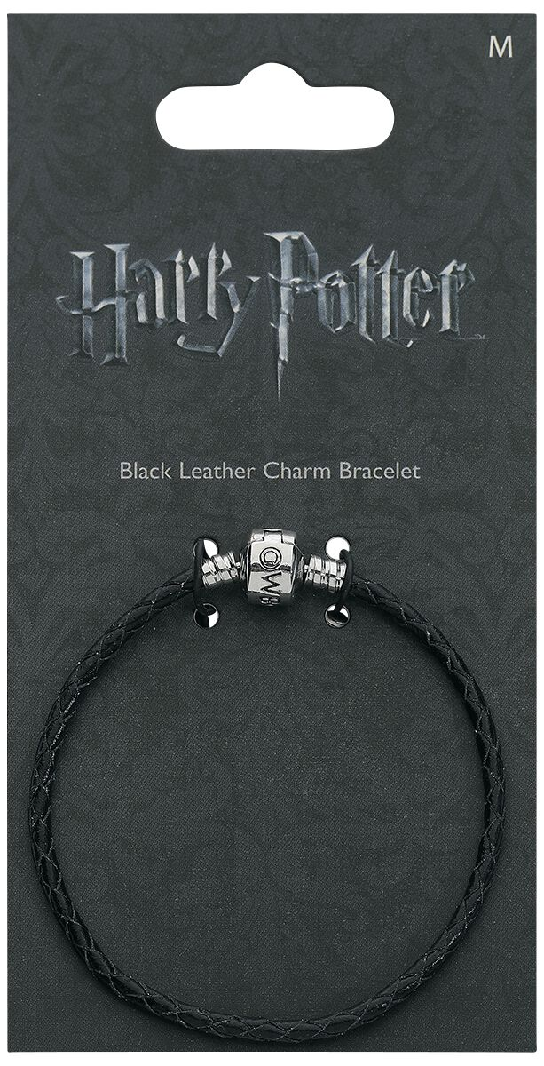Armbaender für Frauen - Harry Potter Black Leather Charm Bracelet Armband schwarz  - Onlineshop EMP