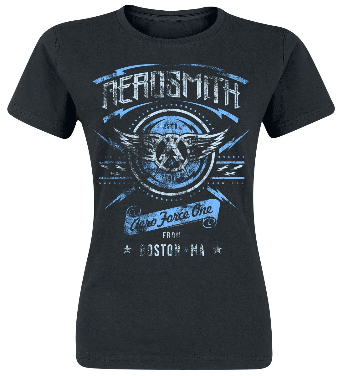 Zespoły - Koszulki - Koszulka damska Aerosmith Aero Force One Koszulka damska czarny - 358428