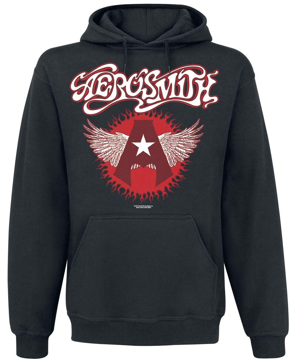 Zespoły - Bluzy z kapturem - Bluza z kapturem Aerosmith Flying Logo Bluza z kapturem czarny - 358438