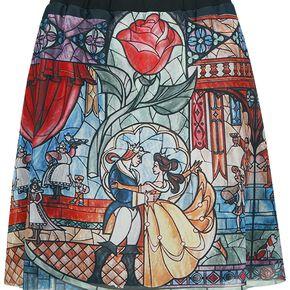 La Belle Et La Bête Rose De Verre Jupe multicolore
