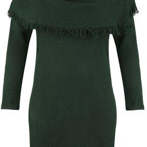 Outlander Cowl Neck Sweater Dress Robe vert foncé