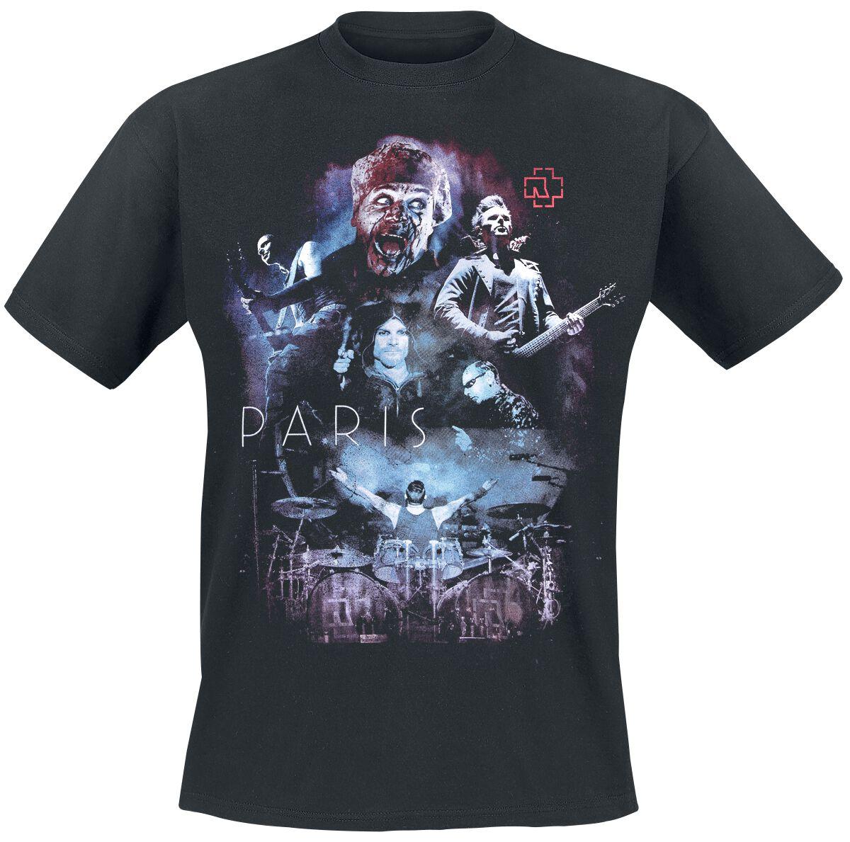 Image of   Rammstein Collage Paris T-Shirt sort