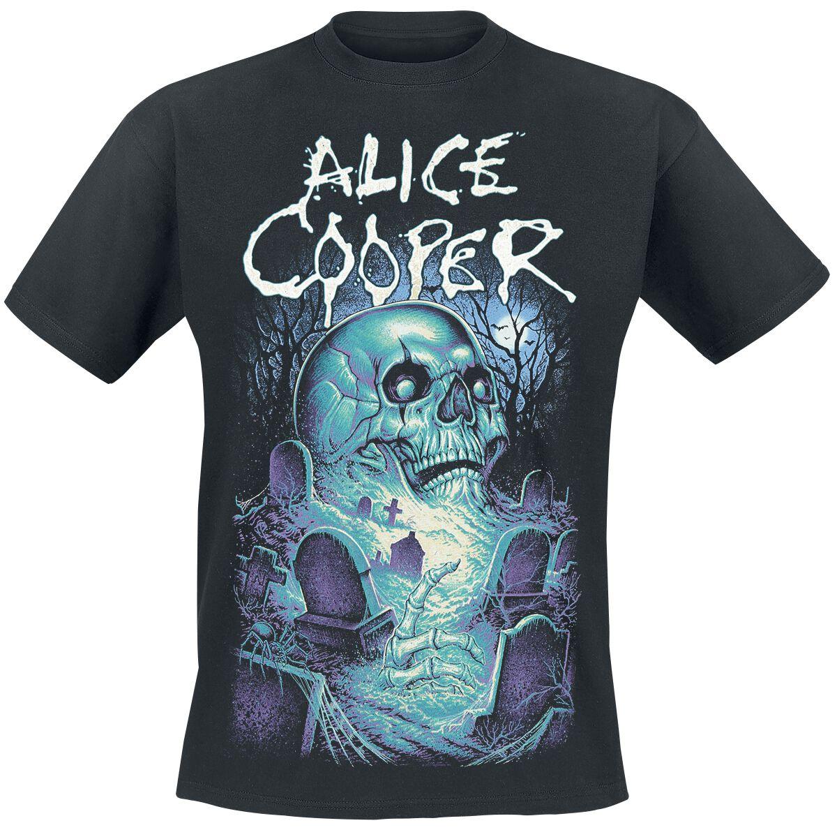 Zespoły - Koszulki - T-Shirt Alice Cooper Graveyard T-Shirt czarny - 358609