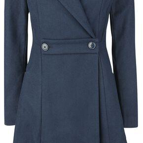 Outlander Claire 40s Coat Manteau Femme bleu foncé