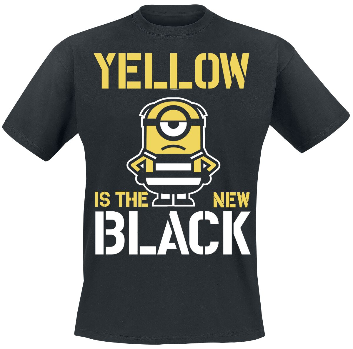 Image of   Minions Yellow Is The New Black T-Shirt sort