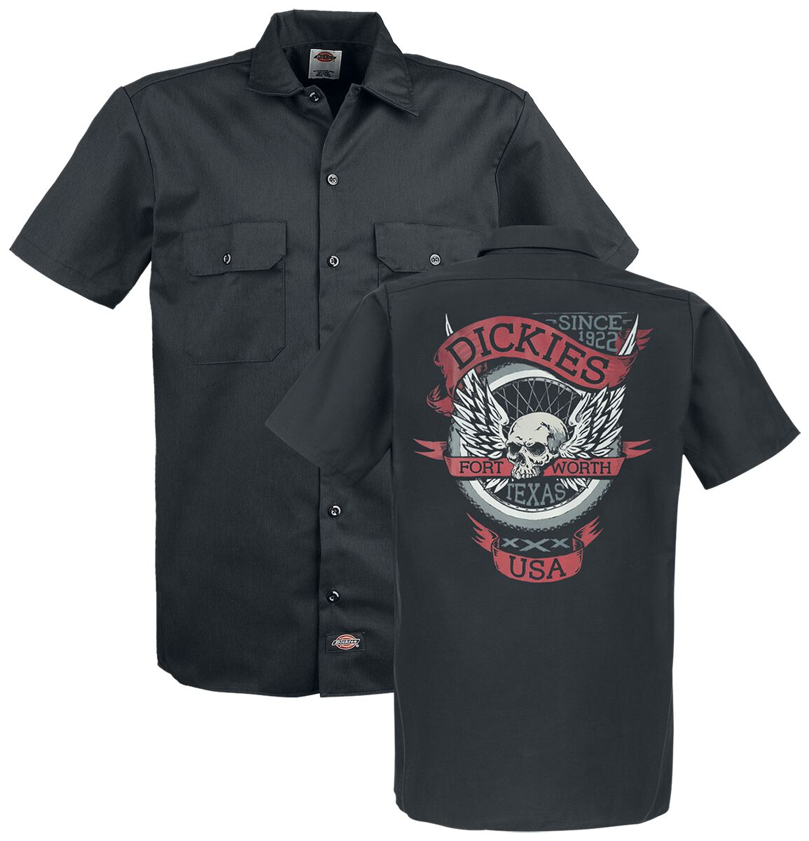 Image of   Dickies Skull Workshirt Skjorte sort