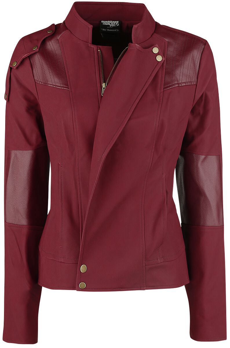 Image of   Guardians Of The Galaxy Her Universe - Star Lord Cosplay Jacket Girlie jakke mørk rød