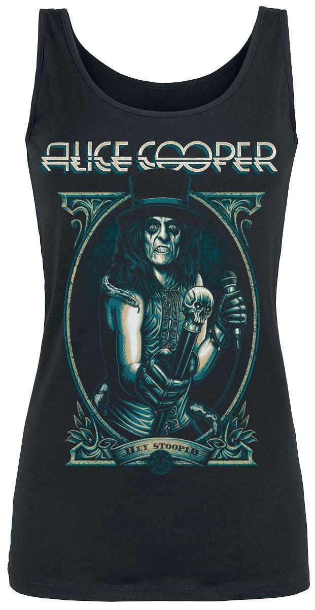 Zespoły - Topy - Top damski Alice Cooper Portrait Top damski czarny - 358760
