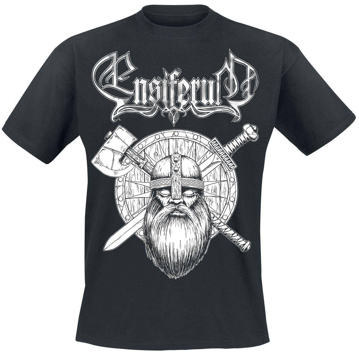 Zespoły - Koszulki - T-Shirt Ensiferum Sword & Axe T-Shirt czarny - 358799