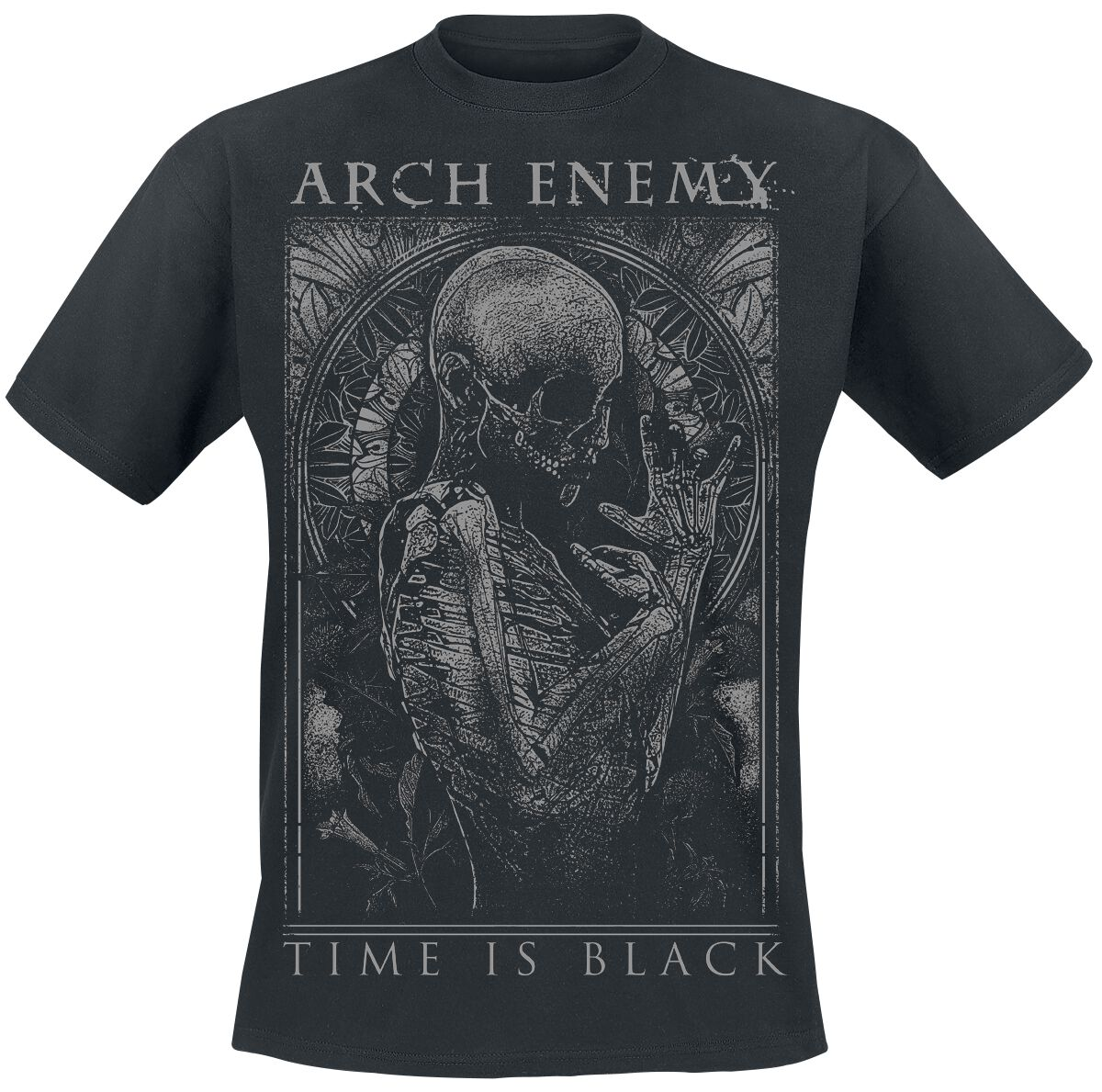 Image of   Arch Enemy Time Is Black T-Shirt sort