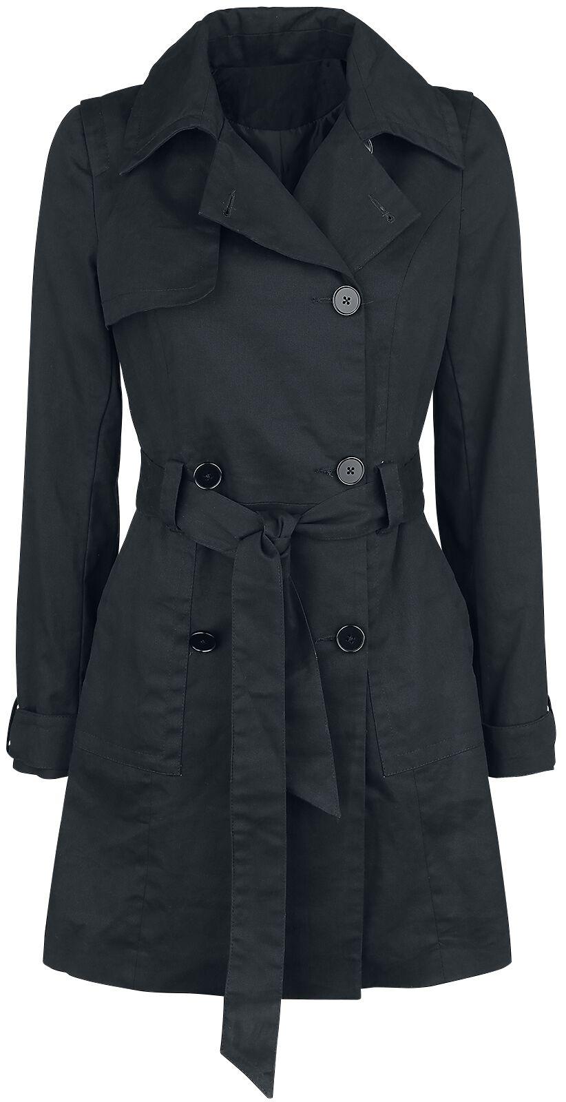 Image of   Forplay Cotton Trenchcoat Girlie frakke sort