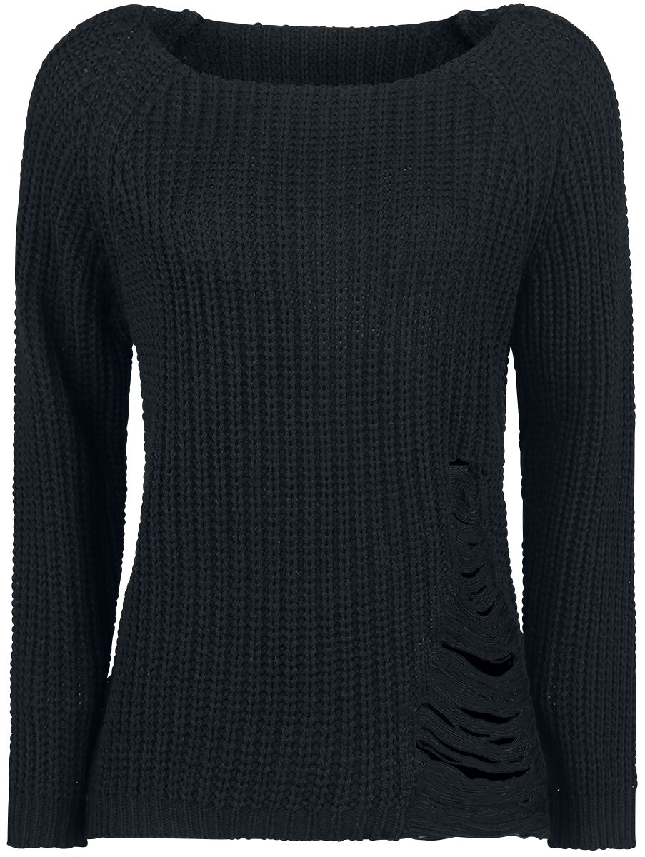 Forplay Destroyed Sweater Bluza damska czarny