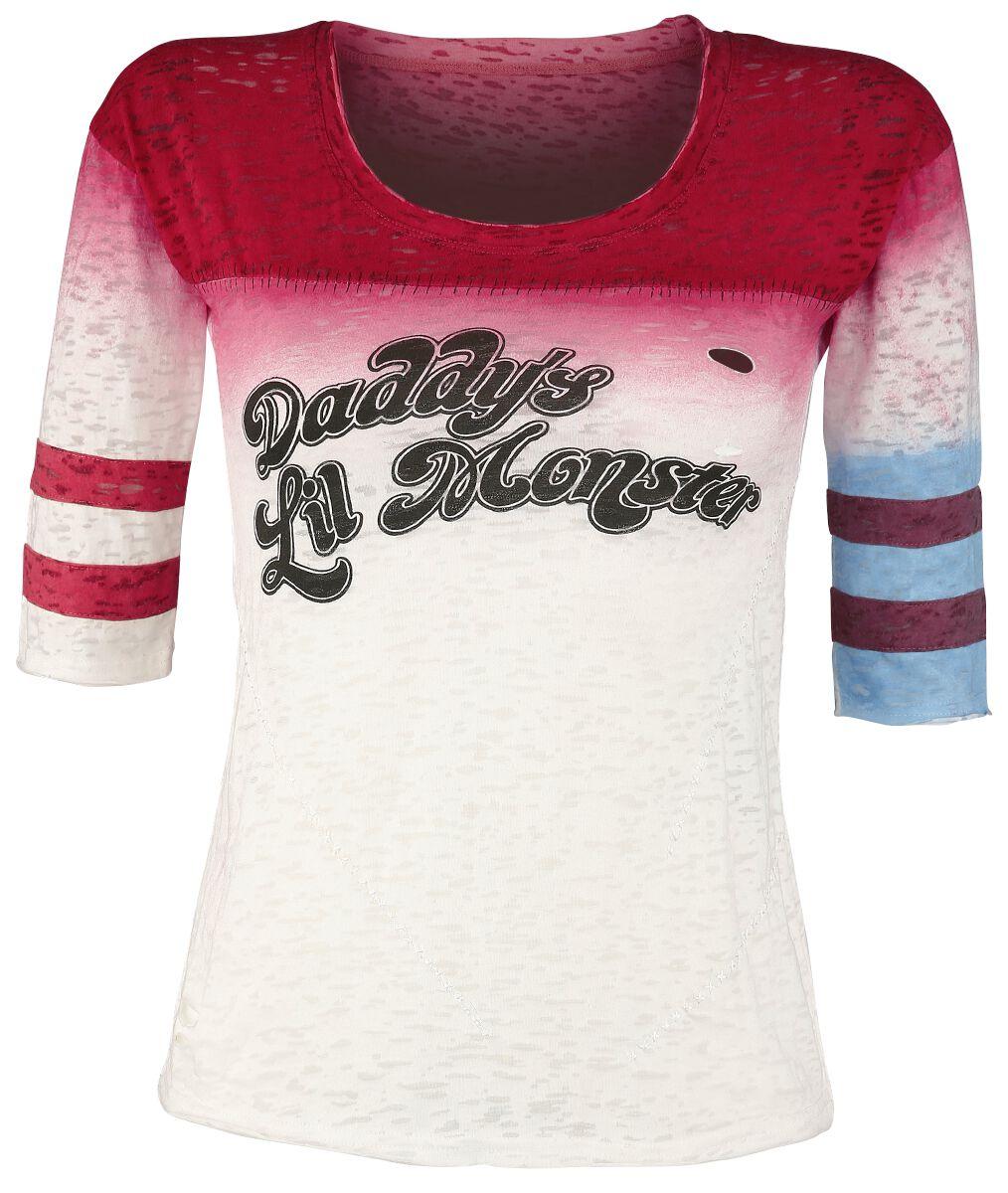 Image of   Suicide Squad Harley Quinn - Daddy's Little Monster Girlie langærmet multifarvet