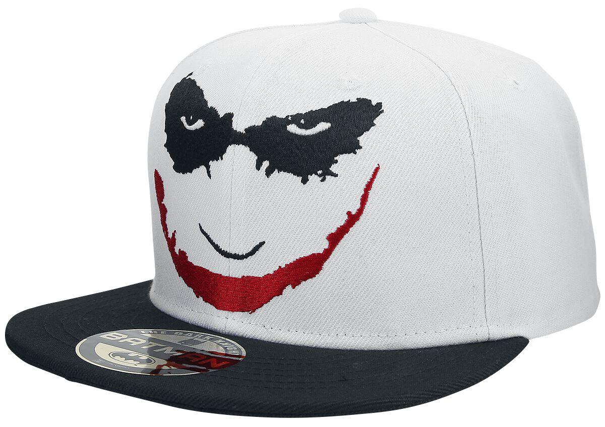 Merch dla Fanów - Czapki i Kapelusze - Czapka Snapback The Joker Face Czapka Snapback biały/czarny - 358915