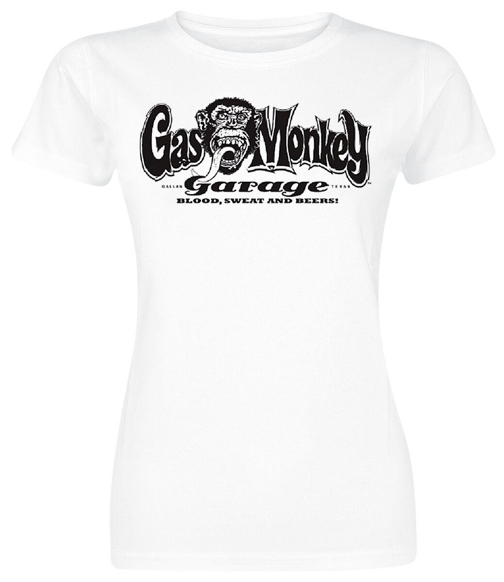 Merch dla Fanów - Koszulki - Koszulka damska Gas Monkey Garage Richard Koszulka damska biały - 358949