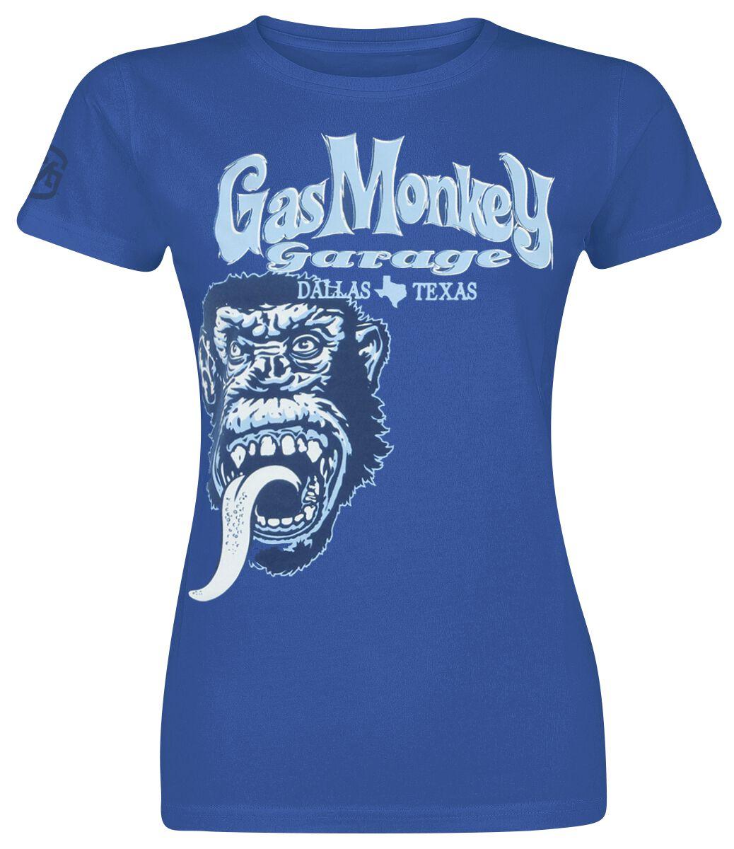 Merch dla Fanów - Koszulki - Koszulka damska Gas Monkey Garage Tonal Monkey Classic Koszulka damska niebieski - 358953