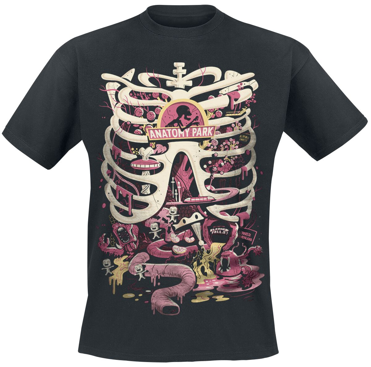 Image of   Rick And Morty Anatomy Park T-Shirt sort