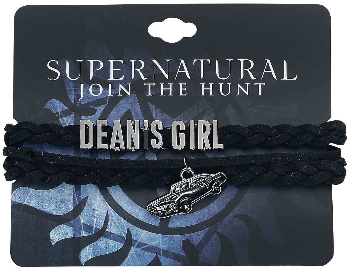 Image of   Supernatural Dean's Girl Armbånd sort-sølv
