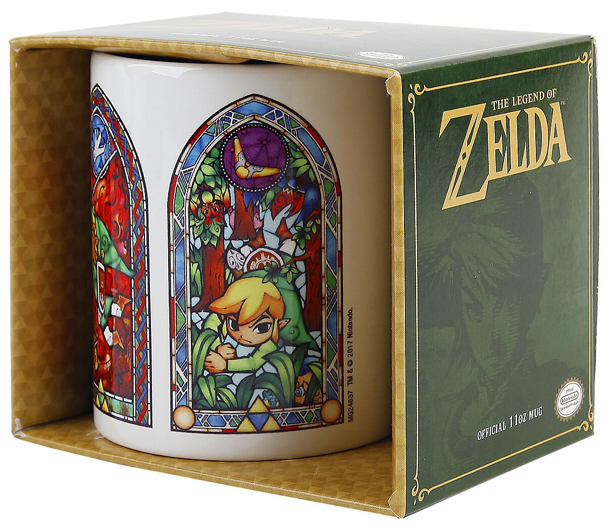 Image of   The Legend Of Zelda Stained Glass Krus hvid