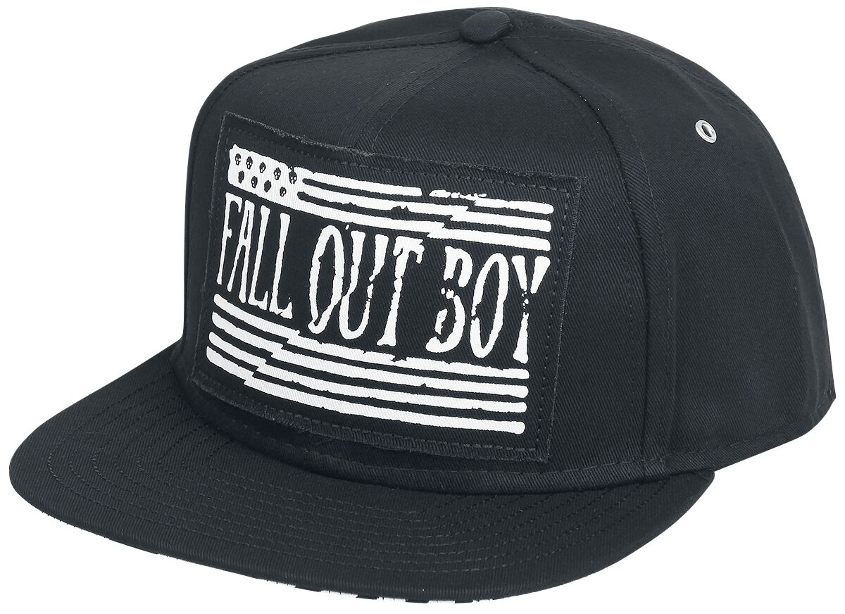 Zespoły - Czapki i Kapelusze - Czapka Snapback Fall Out Boy Logo Czapka Snapback czarny - 359297