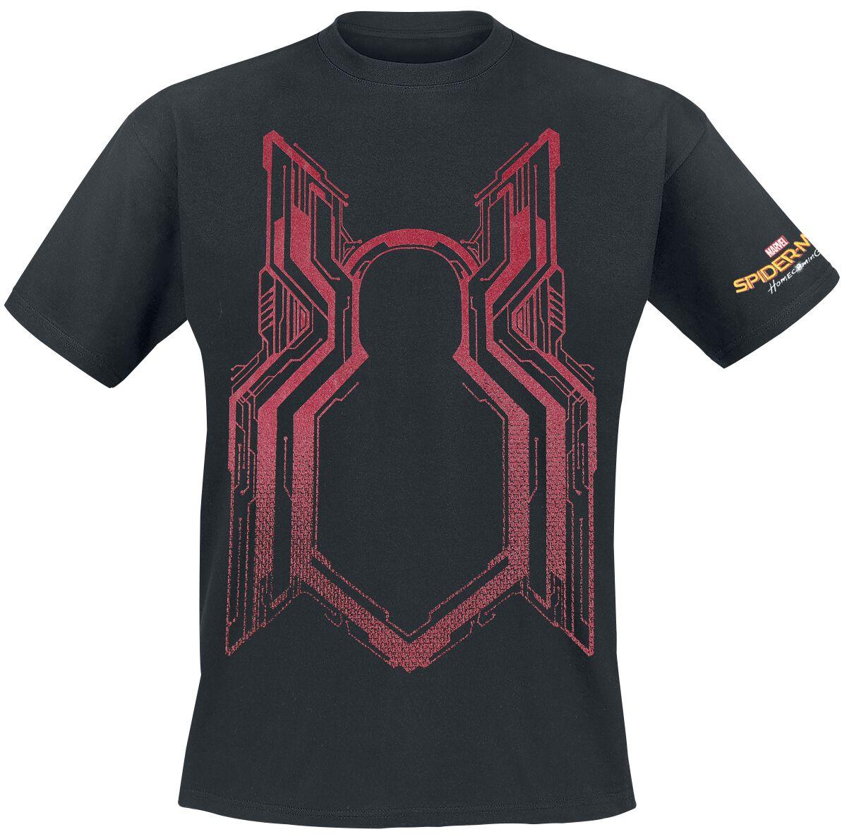 Image of   Spiderman Homecoming - Shimmer Ink Homecoming Logo T-Shirt sort