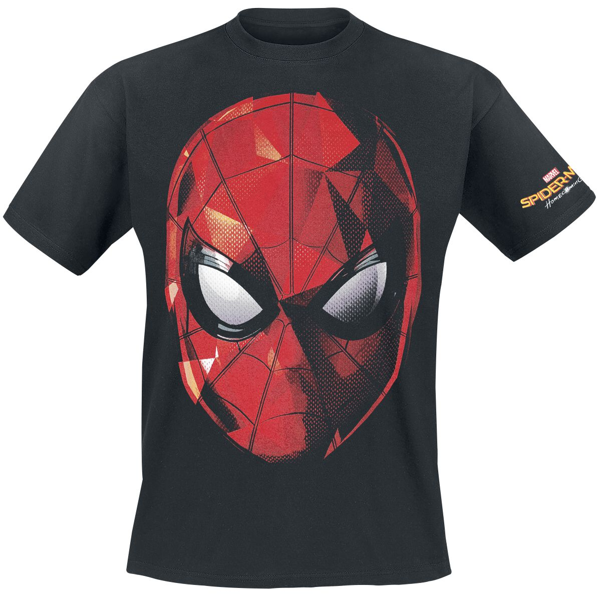 Image of   Spiderman Homecoming - Web Face T-Shirt sort